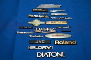 家電・音響機器メーカーのロゴマーク見本一例